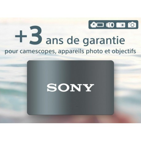 SONY EXTENSION DE GARANTIE +3ANS PHOTO